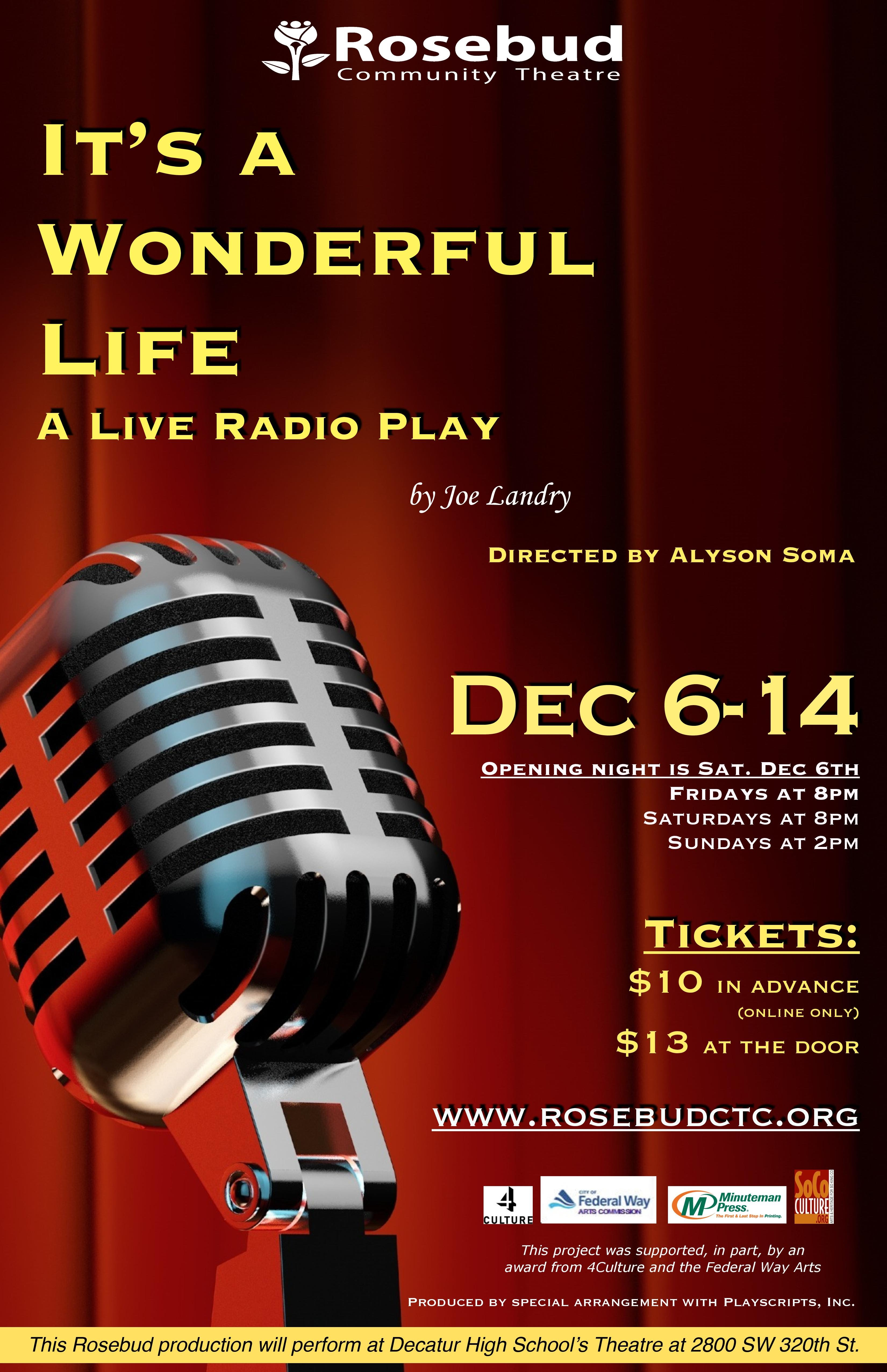 It 39 S A Wonderful Life A Live Radio Play Rosebud Children 39 S Community Theatre Conservatory